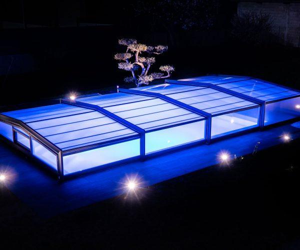 mise en lumière piscine